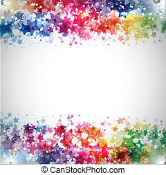 Starry background - Abstract design background made up of...
