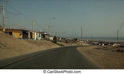 Driving in Lima, Peru