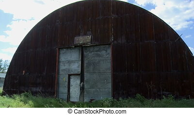 Rusty and old hangar - Abandoned metal hangar