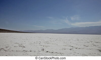 Background from salt in Death Valley, California
