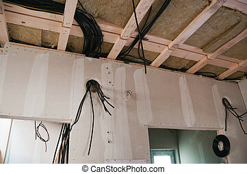 Cabling - Thermal insulation of a house roof and wires