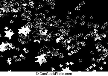 The stars - The black background whit silver stars