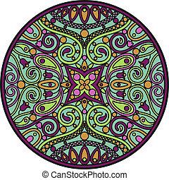 green mandala - The vector illustration of oriental mandala