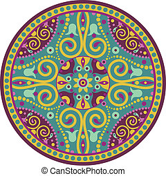indian-mandala - colorful vector illustration of oriental...