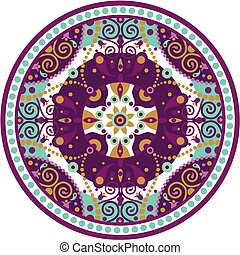 mandala-round - colorful vector illustration of oriental...