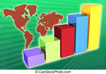 World Market Economy Growth and Increase