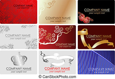 Nine Fashion Business Cards.