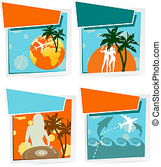 Four Summer Vacation Icons