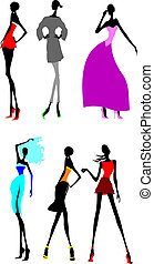 Six Fashion Long Legs Girls. Other In My Portfolio.