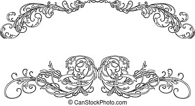Two Baroque Calligraphy Curves