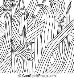 Black-white drawing of grass. EPS10