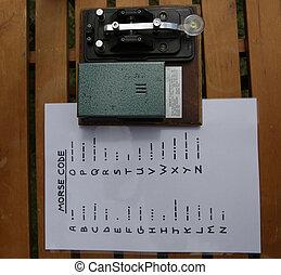 Morse code transmitter - Old world war 2 Morse code...