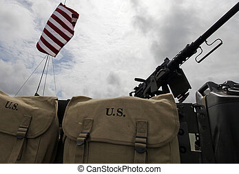 US Stars & stripes - Stars & stripes with military mail bags
