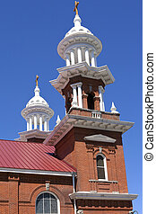 Church steeple and crosses, Reno NV. - Church steeples and...