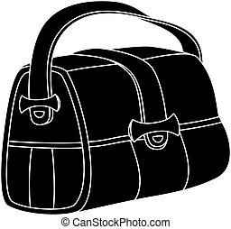 Leather bag, silhouette