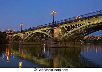 Triana Bridge, the oldest bridge of Seville - Triana Bridge...