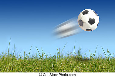 Soccer ball - Image of soccer ball flying