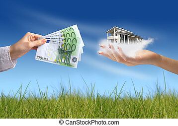 Buying new house concept