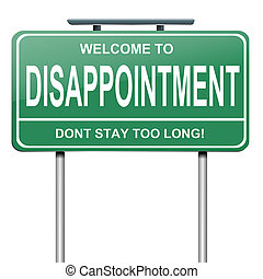 Disappointment concept. - Illustration depicting a green...