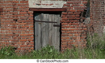Door of abandoned building