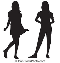 Silhouettes of teen - Teenage fashion