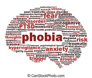 Phobia symbol isolated on white background Anxiety disorder...