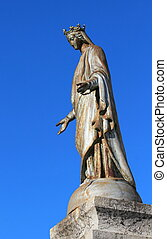 Notre Dame de Suize virgin statue, Grand-Bornand, France and...