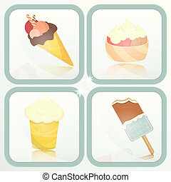 Ice Cream - set labels