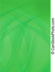 simple abstract background of green curve lines