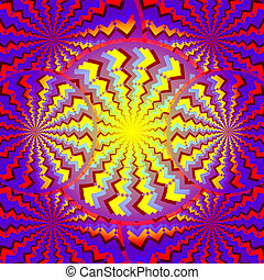 Psycho Disco (motion illusion) - Rotating wheels are...