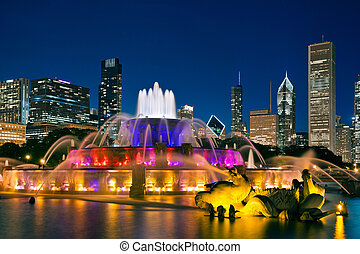 Buckingham Fountain. - Image of Buckingham Fountain in Grant...