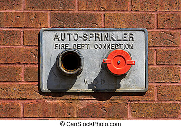 Fire Department Auto-Sprinkler Pipes - Metal water-pipes for...