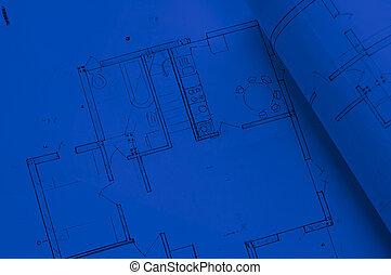 Planning - Blue architecture planning of interiors designe...