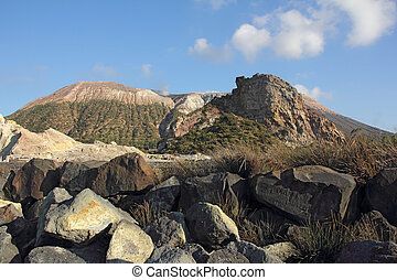Vulcano - Volcano on the island of Vulcano, Sicily