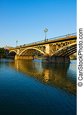 Triana Bridge in Seville, Spain - Triana Bridge, the oldest...