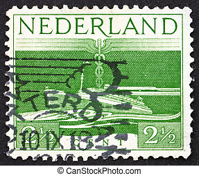 NETHERLANDS - CIRCA 1944: a stamp printed in the Netherlands...
