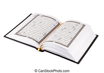 Holy Quran Book isolated on white
