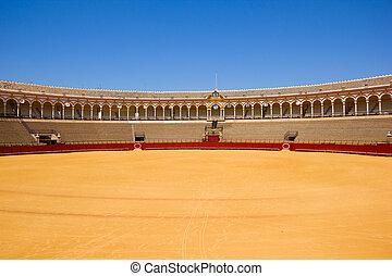 Corrida, arène, Sevilla, espagne