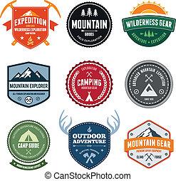 Montaña, insignias