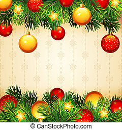 Christmas background - Vector illustrations - Christmas...