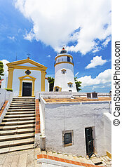 Guia Fortress lighthouse in Macau