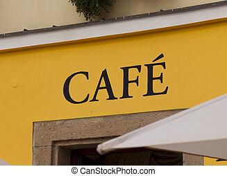 Coffee cartel in a square in Prague