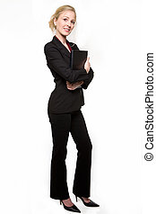 Blond business woman - Attractive blond hair woman wearing...