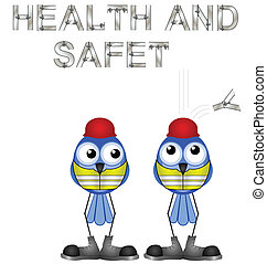 health and safety sign - Construction workers and health and...