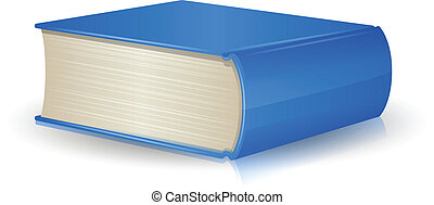 Single book - Single blue book with reflection