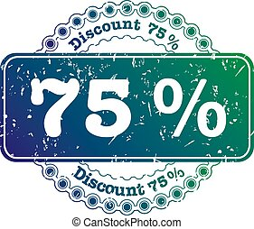 Stamp Discount seventy five percent - illustration stamp...
