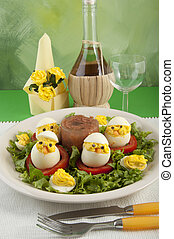 spirit boiled eggs made ??with chicken meat - ew firm made...
