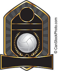 Volleyball Design Template Laurel - Volleyball design...