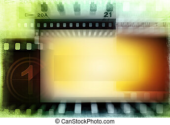 Film negatives background - Grungy film negatives background...