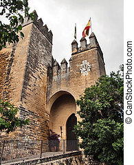castelo, Almodovar, del, Rio, Cordoba, Espanha